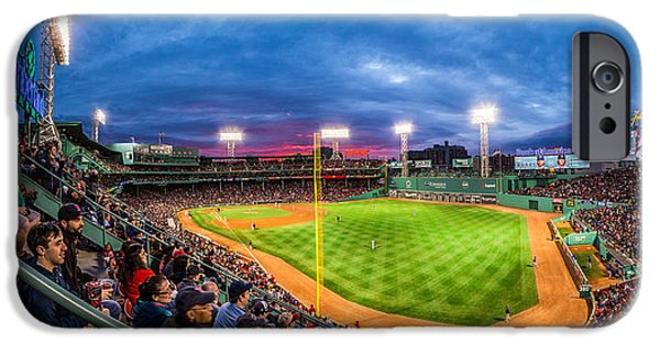 Red Sox iPhone Cases - Fenway Park Sunset iPhone Case by Ryan McKee