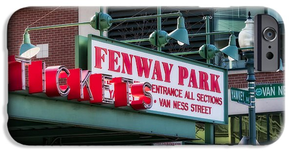 Red Sox iPhone Cases - Fenway Park Tickets iPhone Case by Susan Candelario