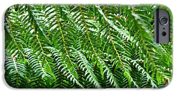 Abstract Digital Photographs iPhone Cases - Fern Cascade iPhone Case by Jean Hall