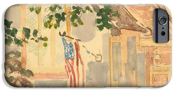 4th July Paintings iPhone Cases - Fernwood Drive iPhone Case by Thyrsie Cahoon