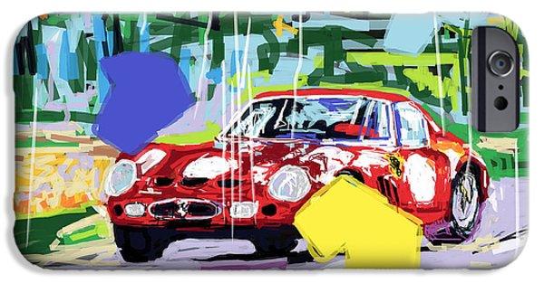 Ferrari 250 Gto iPhone Cases - Ferrari 250 GTO  iPhone Case by Russell Bradley