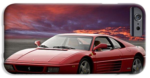 Circuit iPhone Cases - Ferrari 348 tb iPhone Case by Dave Koontz