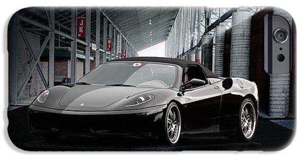 Circuit iPhone Cases - Ferrari 430 Scuderia iPhone Case by Dave Koontz