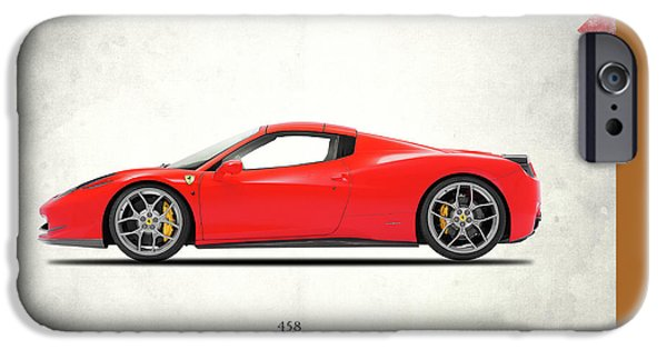 Sport Car iPhone Cases - Ferrari 458 Italia iPhone Case by Mark Rogan