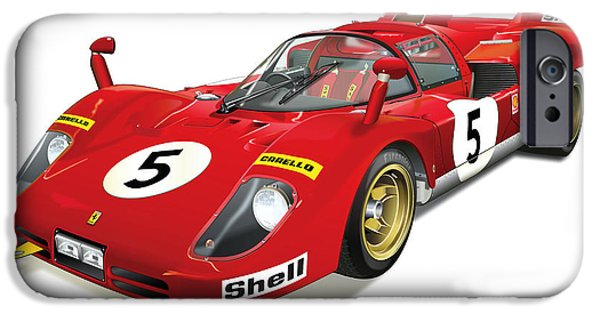 Automotive iPhone Cases - Ferrari 512 iPhone Case by Alain Jamar
