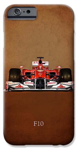 Motor Sport iPhone Cases - Ferrari F10 iPhone Case by Mark Rogan
