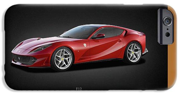 Racing Photographs iPhone Cases - Ferrari F12 iPhone Case by Mark Rogan
