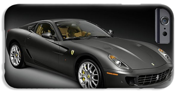 Sportcars iPhone Cases - Ferrari Fiorano 599 GTB  iPhone Case by Oleksiy Maksymenko