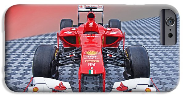 Circuit iPhone Cases - Ferrari Formula One Front View iPhone Case by Dave Koontz