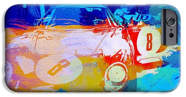 Laguna Seca iPhone Cases - Ferrari pit stop iPhone Case by Naxart Studio