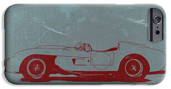 Old Digital iPhone Cases - Ferrari Testa Rosa iPhone Case by Naxart Studio