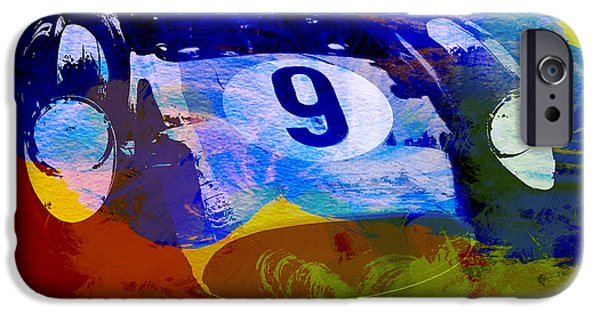 Events iPhone Cases - Ferrari Testarossa Watercolor iPhone Case by Naxart Studio