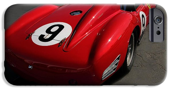 Indy Car iPhone Cases - Ferrari TR 250 1959 Right Rear iPhone Case by Curt Johnson