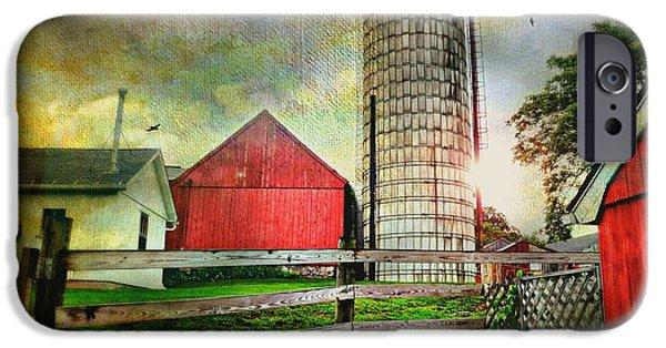 Connecticut Farm iPhone Cases - Ferris Farm Silo iPhone Case by Diana Angstadt