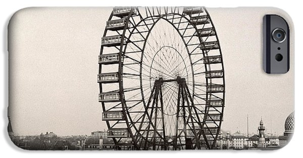 Best Sellers -  - Technology iPhone Cases - Ferris Wheel, 1893 iPhone Case by Granger