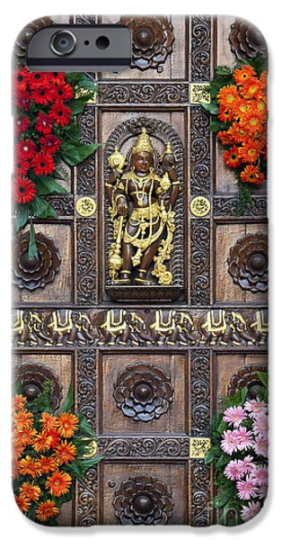 Hindu Goddess iPhone Cases - Festival Gopuram Gate iPhone Case by Tim Gainey