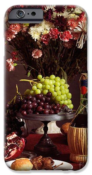 Festive Dinner Still Life iPhone Case by Oleksiy Maksymenko