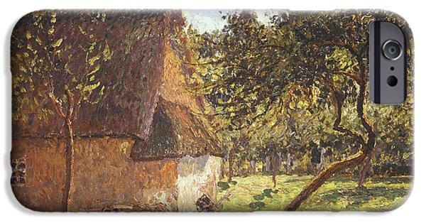 Camille Pissarro iPhone Cases - Field at Varengeville iPhone Case by Camille Pissarro