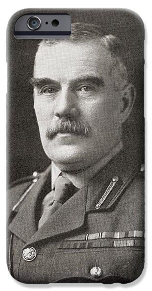 World War One iPhone Cases - Field Marshal Sir William Robert iPhone Case by Ken Welsh