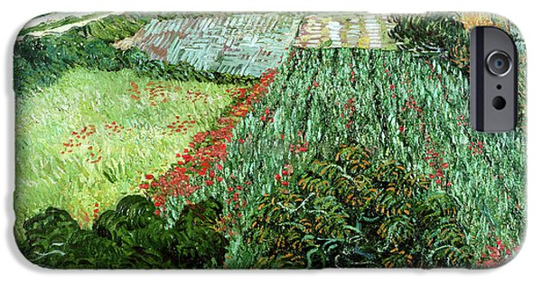 Rural Landscapes iPhone Cases - Field with Poppies iPhone Case by Vincent Van Gogh