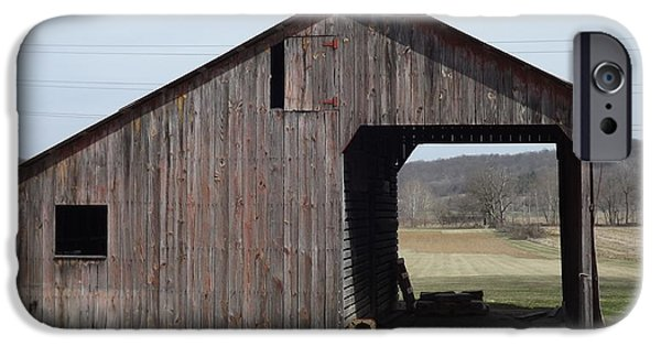 Shed Mixed Media iPhone Cases - Fieldshed iPhone Case by Don Koester