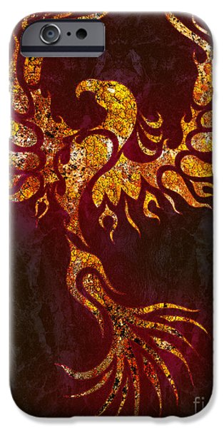 Fiery iPhone Cases - Fiery Phoenix iPhone Case by Robert Ball
