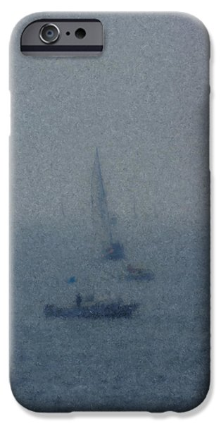 Mcentee Paintings iPhone Cases - Figawi Fogbound iPhone Case by Bill McEntee