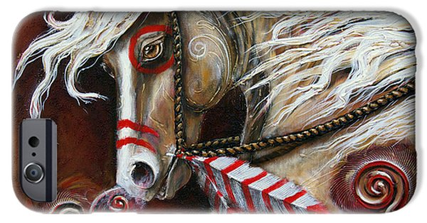 Paso Fino Stallion iPhone Cases - Fight or Flight iPhone Case by Jonelle T McCoy