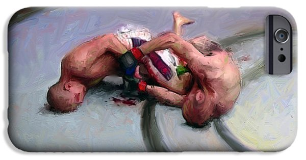 Ufc Digital iPhone Cases - Fighters 16 iPhone Case by Dave Dixon