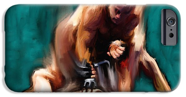 Ufc Digital iPhone Cases - Fighters 2 iPhone Case by Dave Dixon
