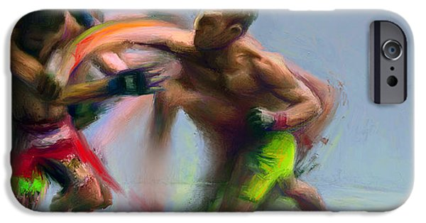 Ufc Digital iPhone Cases - Fighters 32 iPhone Case by Dave Dixon