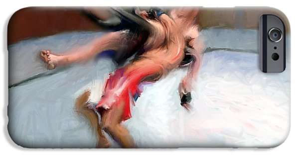 Ufc Digital iPhone Cases - Fighters 8 iPhone Case by Dave Dixon