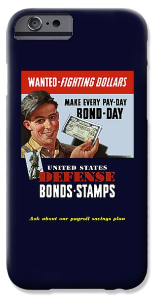 Worker iPhone Cases - Fighting Dollars Wanted iPhone Case by War Is Hell Store