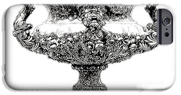 European Sculptures iPhone Cases - Figural Urn _ V1 iPhone Case by Bruce Algra