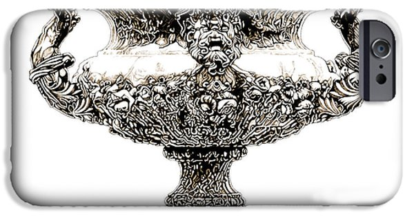 European Sculptures iPhone Cases - Figural Urn _ V2 iPhone Case by Bruce Algra