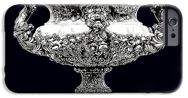 European Sculptures iPhone Cases - Figural Urn _ V3 iPhone Case by Bruce Algra
