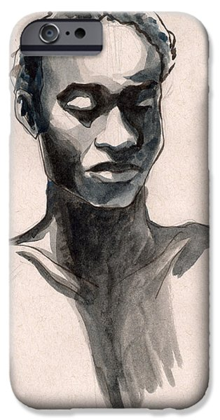 Gestures Drawings iPhone Cases - Figure #389 iPhone Case by Jason Axtell