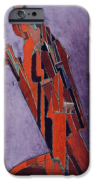 Figures iPhone Cases - Figure Study Design for Sculpture iPhone Case by Lawrence Atkinson
