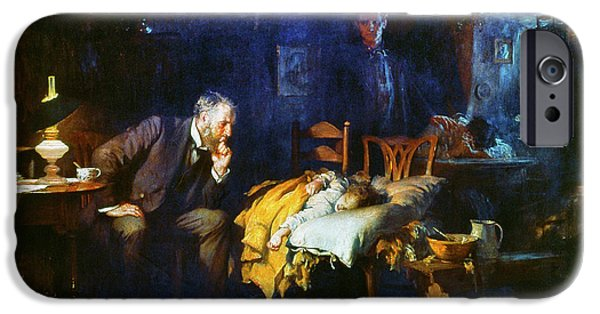 House Art iPhone Cases - Fildes The Doctor 1891 iPhone Case by Granger
