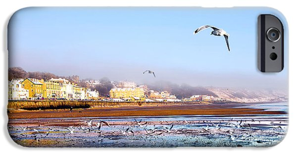 Seagull iPhone Cases - Filey Beach iPhone Case by Svetlana Sewell