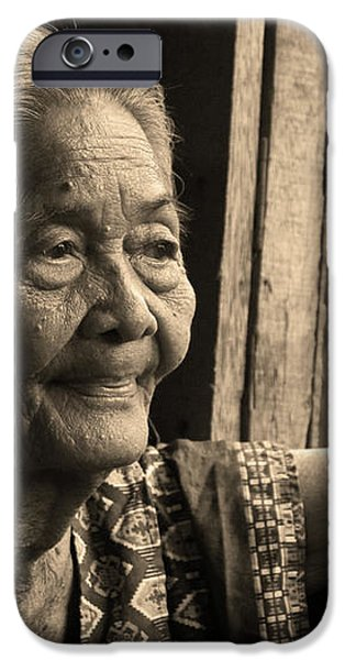 Filipino Lola - Image 14 Sepia iPhone Case by James BO  Insogna