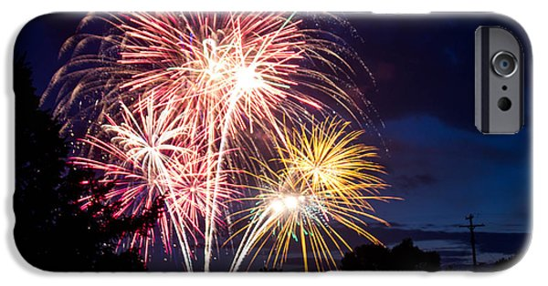 Fireworks iPhone Cases - Finale iPhone Case by Holly O