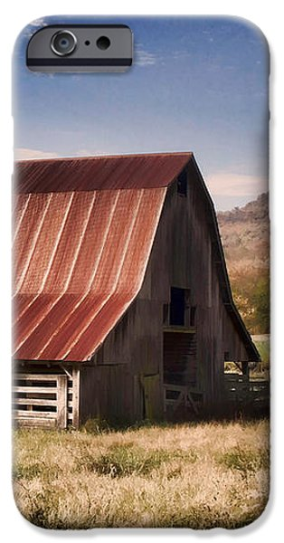 Arkansas iPhone Cases - Fine Old Barn iPhone Case by Lana Trussell