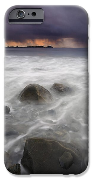 Ocean Sunset iPhone Cases - Fingers of the Storm iPhone Case by Mike  Dawson