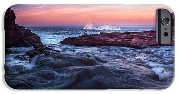 Hudson River iPhone Cases - Fire and Ice Flatrock iPhone Case by Shawn Hudson