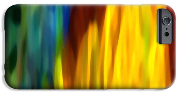 Beach Landscape Digital iPhone Cases - Fire and Water iPhone Case by Amy Vangsgard