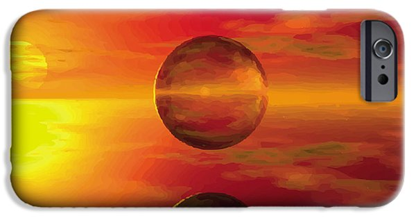 Fine Abstract Glass iPhone Cases - Fire Ball iPhone Case by Jay Salton