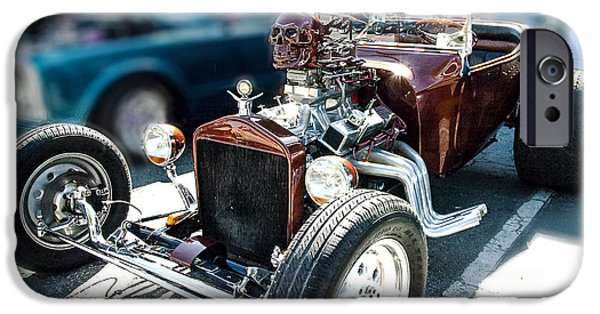 Old Cars iPhone Cases - Fire Breather iPhone Case by Norman Johnson