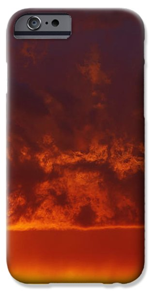Fire Clouds iPhone Case by Michal Boubin