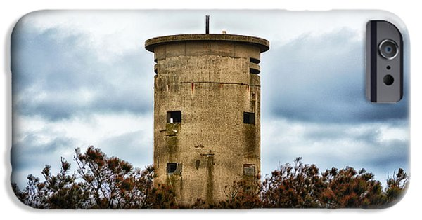 World War One iPhone Cases - Fire Control Tower One in the Clouds iPhone Case by Bill Swartwout